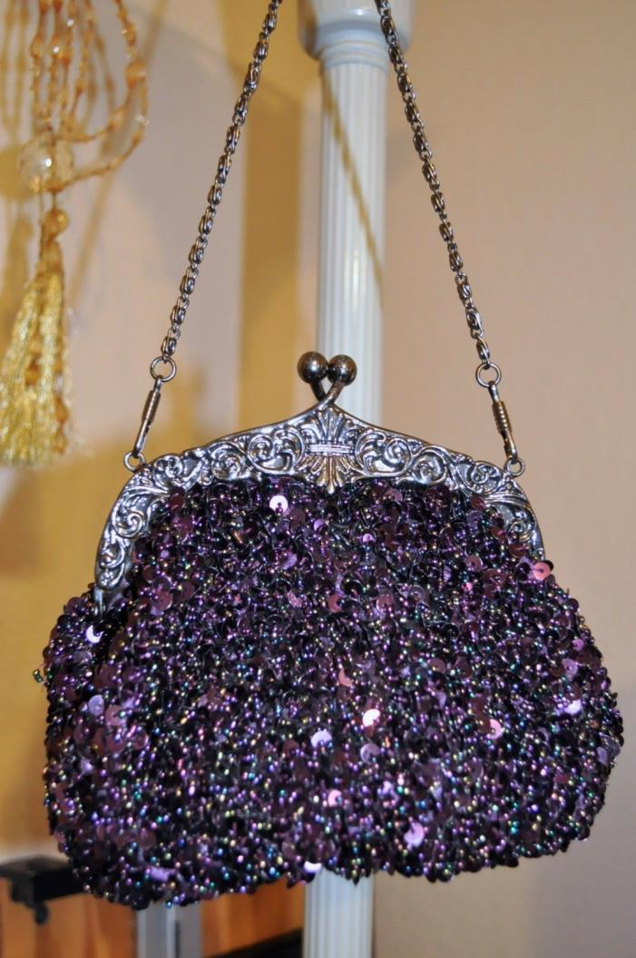 Vintage Beaded & Sequin Evening Bag