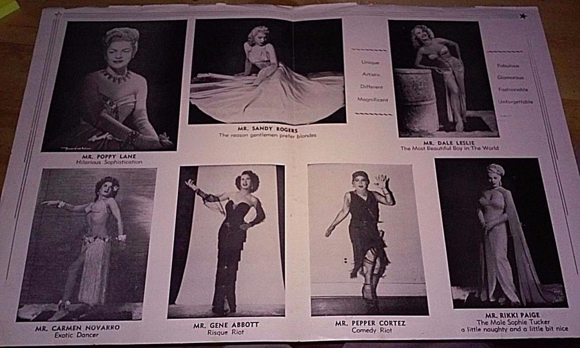 1950s My-O-My Beautiful Boy Female Impersonators Drag Show New Orleans Program