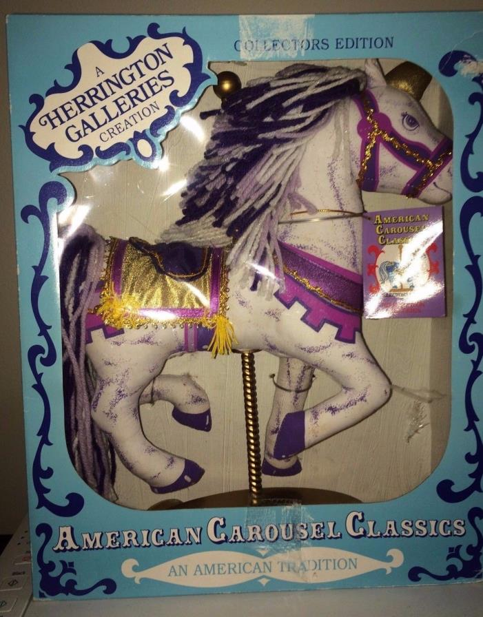 American Carousel Classics Unicorn 1993 New In Box Herrington Galleries