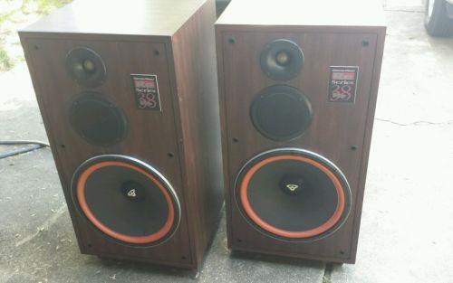 2 Cerwin Vega RE Series-38 Stereo Speaker Floor Standing 15