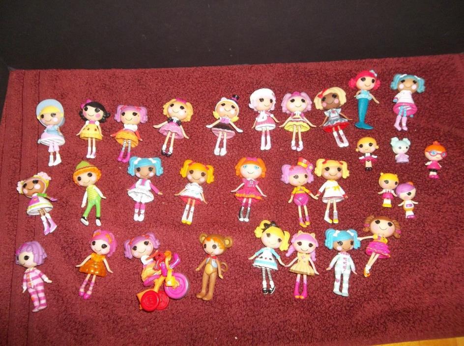HUGE Lot of 25 Lalaloopsy Mini 3