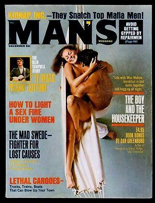 Man's magazine December 1969 Glen Campbell cover Miss December Stella Rook FINE