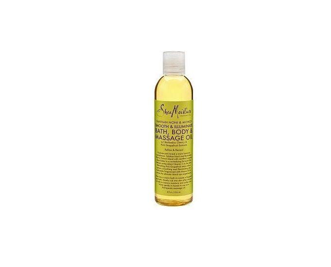Shea Moisture Smooth Illuminate Bath, Body Massage Oil 8 oz