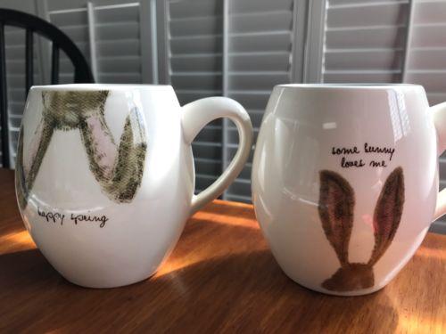 Two (2) Rae Dunn Easter Bunny Mugs