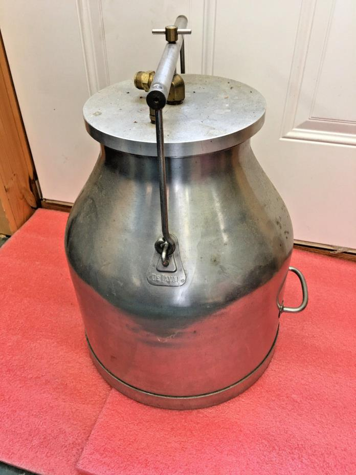 BS4 VINTAGE DELAVAL STAINLESS STEEL CREAM CAN MILK PAIL BUCKET HANDLE brewing