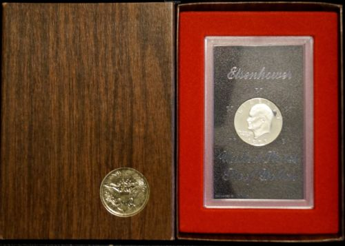 1973-S Eisenhower Dollar Brown Box Proof