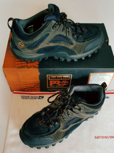 Mens 8.5M Timberland Pro Mudsill Sapphire Leather Steel T Work Shoes ShipsN24Hrs