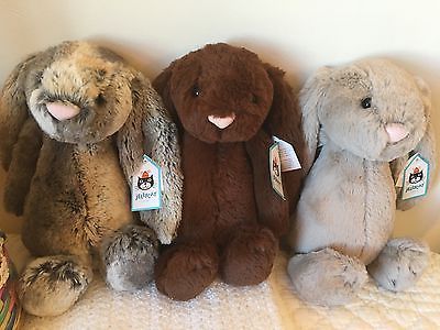 Jellycat Kids Plush Easter Bunny Basket - Set of 3