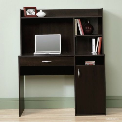 Computer Armoires Hutches Sauder Beginnings Desk with Hutch, Cinnamon Cherry