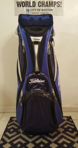 Titleist Golf Cart Bag Blue/Silver/Navy 14-Way Divider