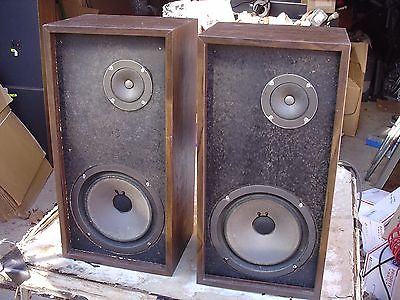 Rare Vintage Classic The Fisher XP55B 2-Way Large Shelf Stereo Speakers