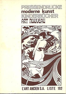 Liste 192 (1973) Pressendrucke/Moderne Kunst/Kinderbücher...L'ART ANCIEN, Zürich