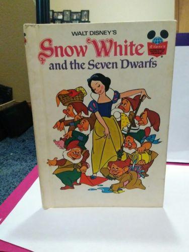 Walt Disney's SNOW WHITE AND THE SEVEN DWARFS Book (Hardback 1973) First Edition