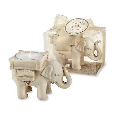 Lucky Elephant Antique Ivory Finish -- 1