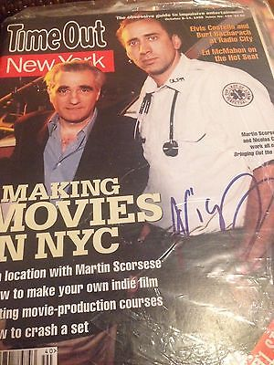 Nicolas Cage Authentic Signed timeout ny Magazine inperson rare