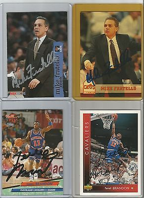 Cleveland Cavaliers Autographed Basketball Cards - Lot of 10