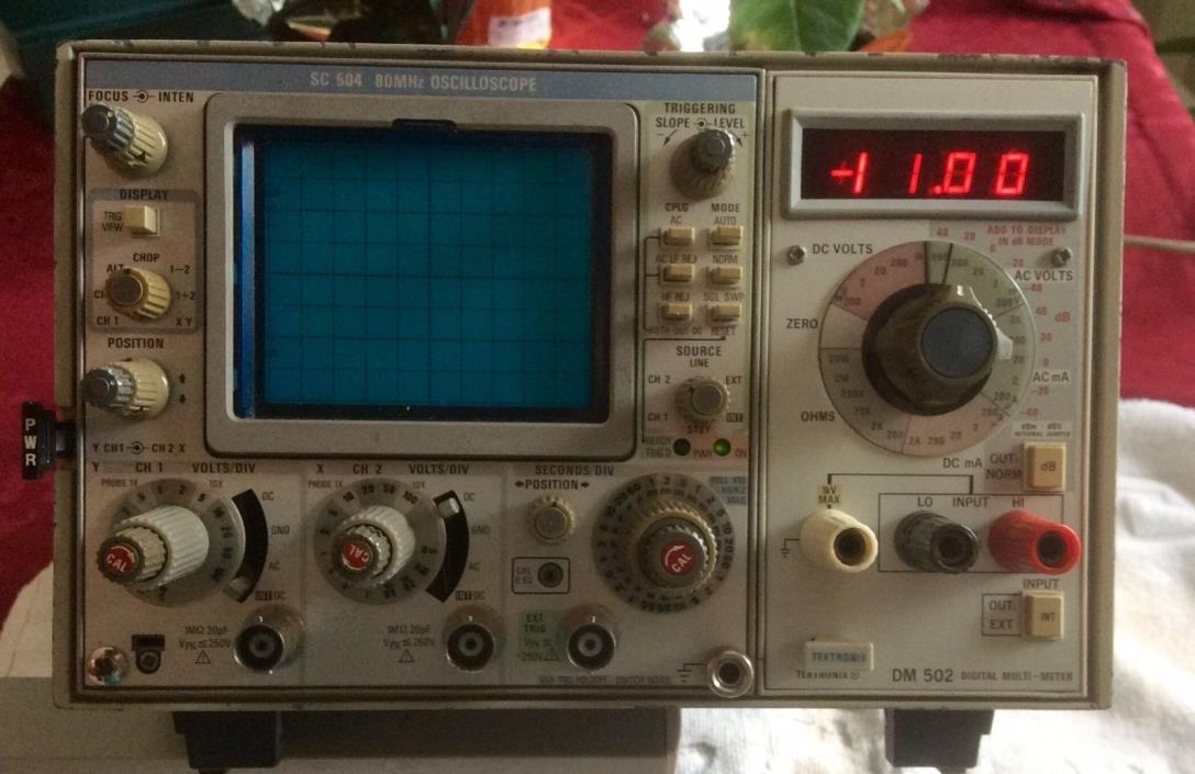Tektronix SC 504 Dual Trace Plug-In Oscilloscope DM 502 meter, TM 503 PS chassis