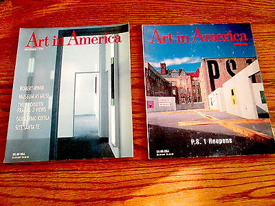 2 ART IN  AMERICA Magazines past issues  Jan 1988 and dec 1999  VERY CLEAN