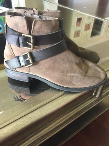 DV Dolce Vita Leather Boots Brown Buckles Fall Boots Size 1