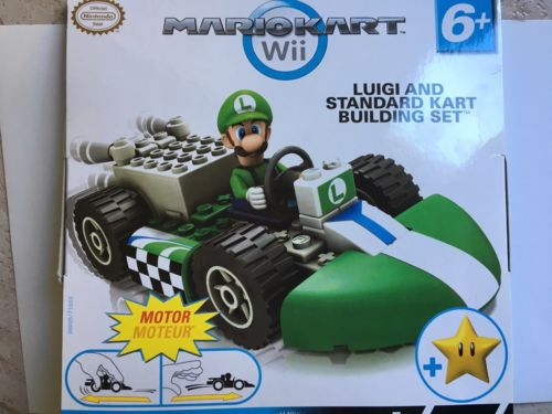 MARIO KART WII Knex Luigi Standard Kart Building Kit 65 PIECE Toy NEW