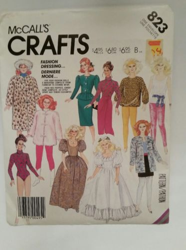 McCall's Vintage 80s Pattern #823 11.5