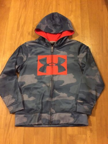 Under Armour Storm Loose Fit Full  Zip Hooded Jacket Boys Size YMD