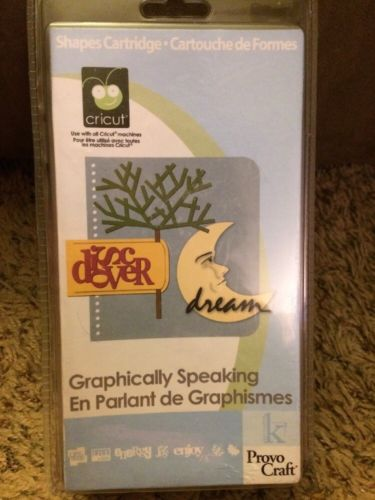*New* GRAPHICALLY SPEAKING Cricut Cartridge Factory Sealed Free Ship