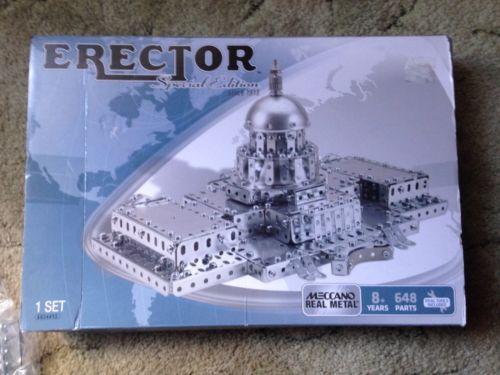 MECCANO Erector Set Capitol Bldg Spec. Ed. Building Kit - Contents Still Sealed!