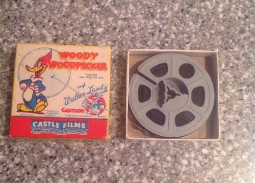 Vintage Woody Woodpecker 8mm Castle Films A Walter Lantz Cartoon 494 Solid Ivory