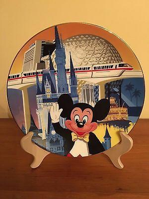 Disney World 15th Anniversary Commemorative Collector Plate