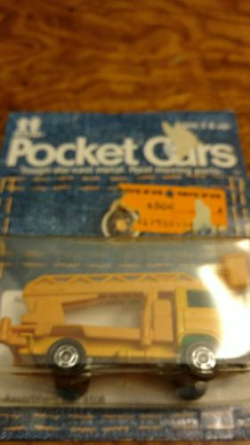 Tomica Vintage Tomy Pocket Car Factory Sealed 75-88 Power Service Trk All Yellow