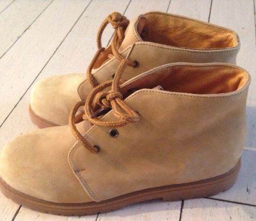 L L BEAN  Youth Size 5M TAN LEATHER  OUTDOOR WORK SHOE BOOT