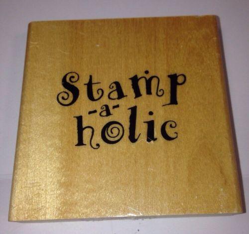 Anita's Sugarloaf Stamp-a-holic Calligraphy Script Rubber Stamp Mounted