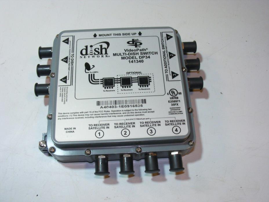 Dish Satellite Digital Videopath Multi Dish Switch DP34 141340 FREE SHIPPING