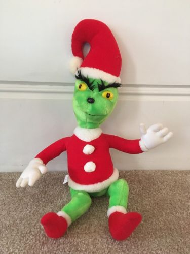 Vintage DR SEUSS Grinch that Stole Christmas PLUSH DOLL 1983 EUC 24 inches