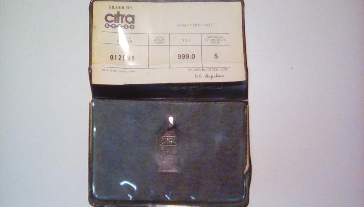 5 gram Silver Bar - Citra