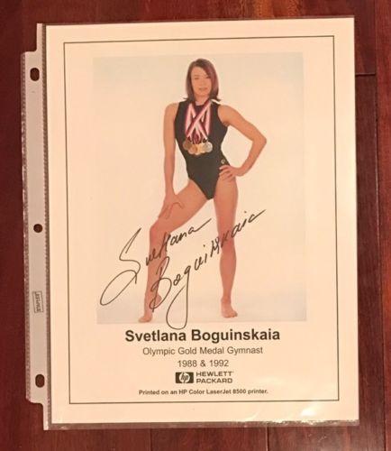 Svetlana Boguinskaia Boginskaya USSR Russia Olympic Gold Medal Autographed Photo