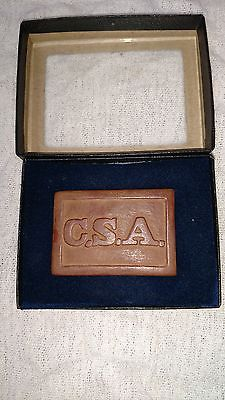 Civil War Confederate State Army Belt Buckle USA CSA VERY RARE Amazing Condition