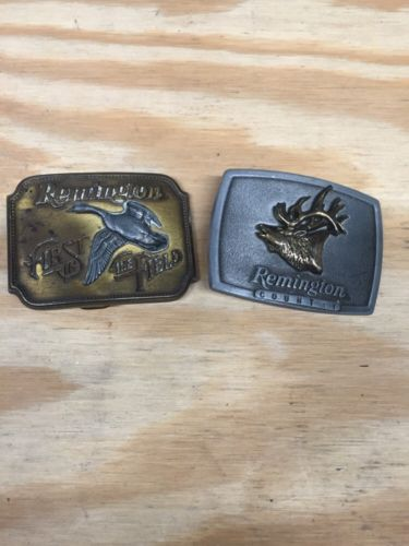 Vintage Remington Belt Buckles