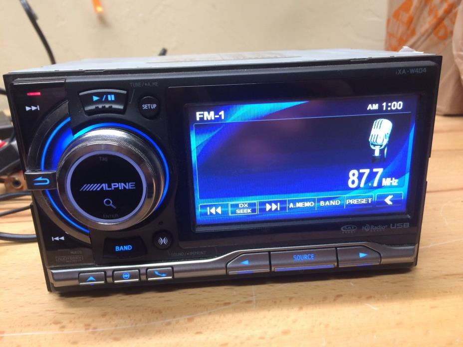 alpine double din car stereo for sale classifieds. Black Bedroom Furniture Sets. Home Design Ideas