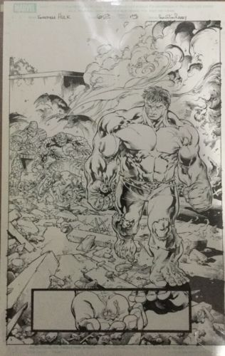 Incredible Hulk, Original Comic Art, Marvel Comics, Tom Raney