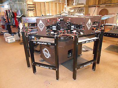 Brown Mfg. Electraprint Junior Stealth AP-67J Printer 2014, 6 Colors 7 Stations