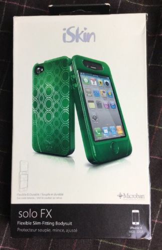 ISkin Solo FX Cell Phone Case for iPhone 4G SOLOFX4GN4 Envy Green Mint NEW NIB