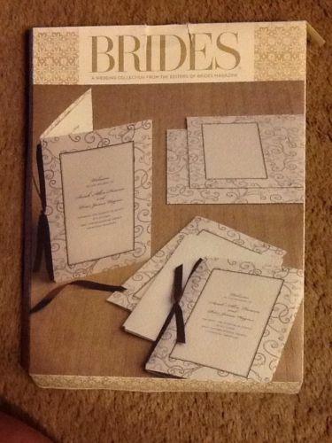 BRIDES Printable Program Kit Qty 40 Ivory/brown