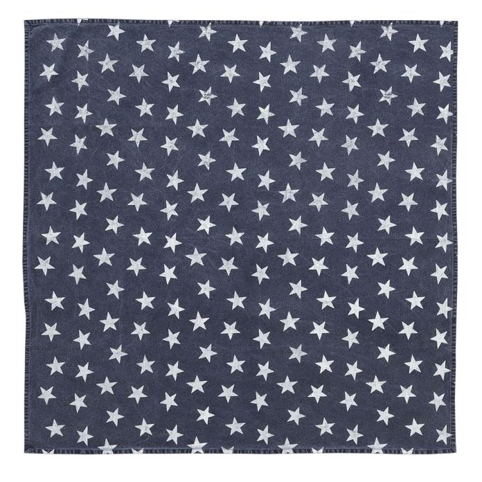 Multi Star Navy Table Topper 40x40 Country Tablecloth Americana