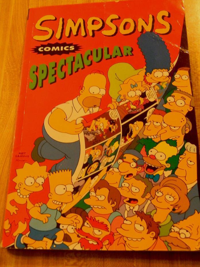 Book Simpson Comics Spectacular 1st Edition 1995 Groening Titan Books UK