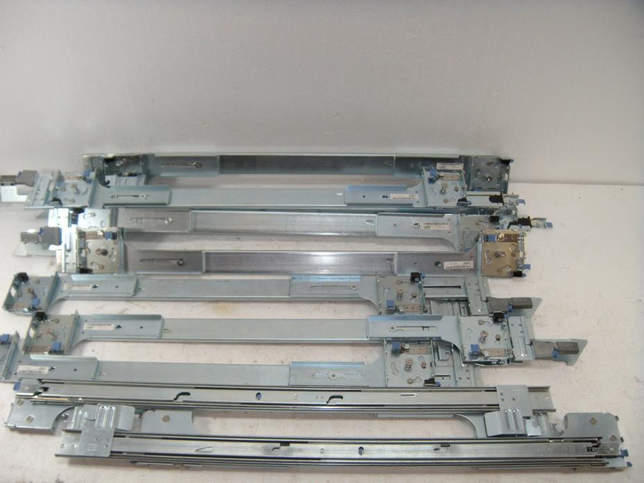 One lot of 5 USED DELL 0GM761 Left and 0UN443 Right Rail kit