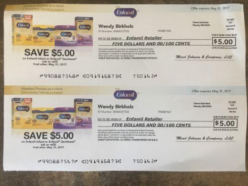 Enfamil Formula Coupons $10 Total - Expires 5/31/17