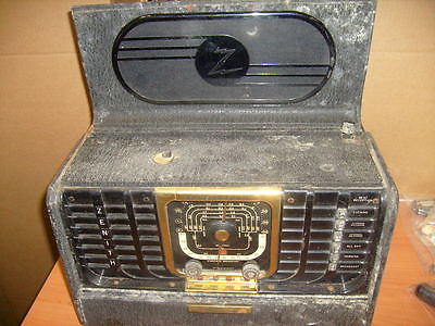 Vintage Zenith Transoceanic 8G005YT Tube AM/SW Radio for Restoration Repair used