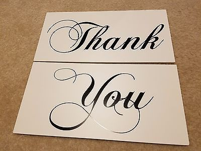 Thank You Wedding Signs Groom Bride Decorations Photo Props Wedding Decor